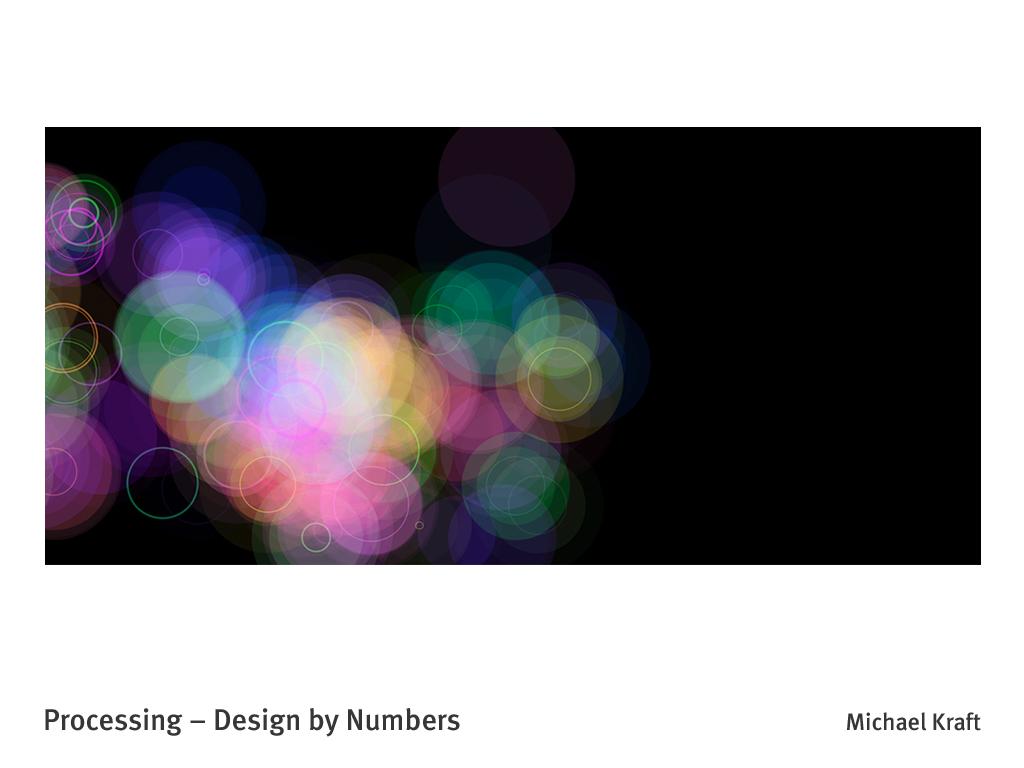Kreise in zufälliger Anordnung um einen Punkt simulieren einen Lensflare-Effekt.