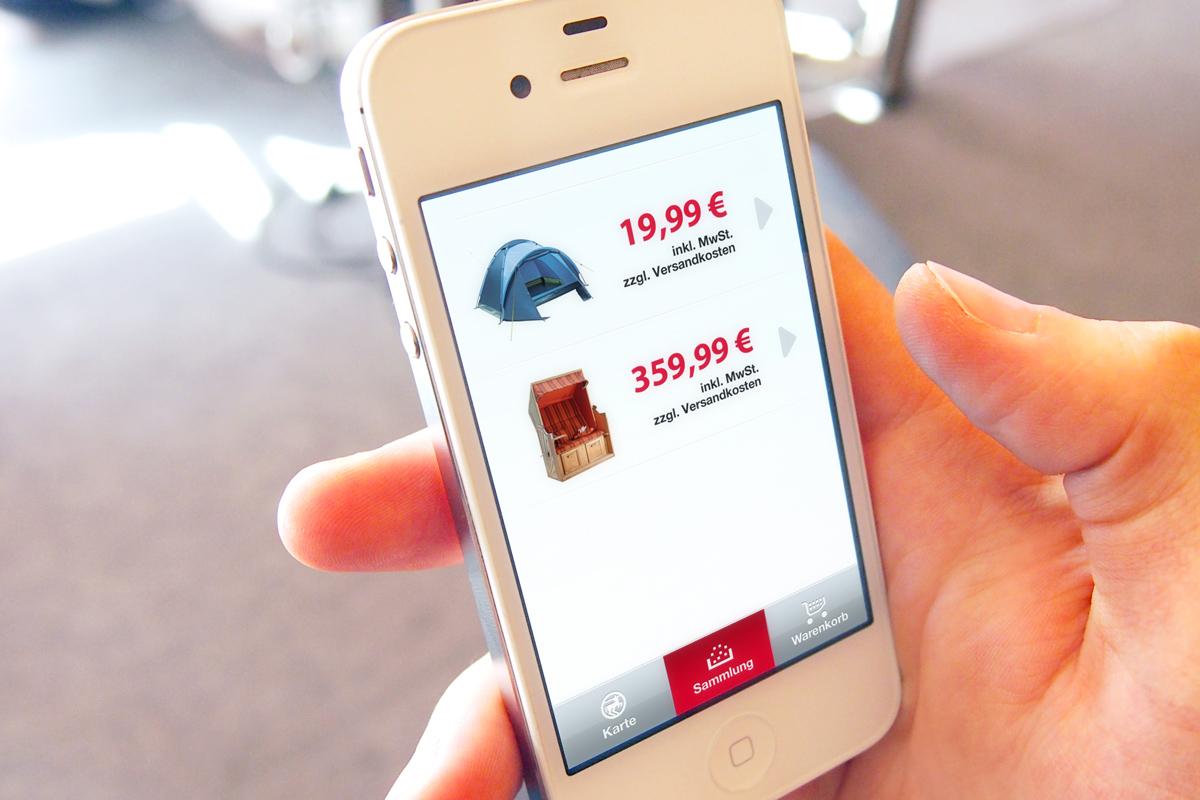 In einem Bereich der App werden alle entdeckten Produkte archiviert.